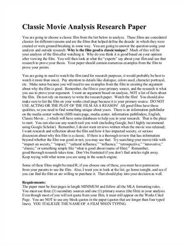 Write critical analysis research paper