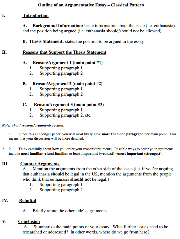 argument and counter argument essay