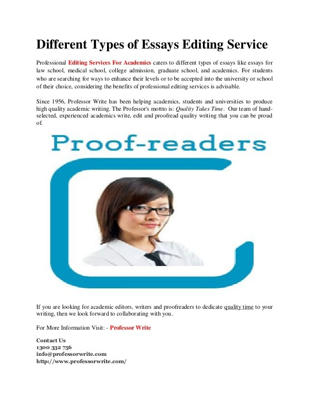 professional essay editors Proofreadingpal offers professional proofreading and editing services every document is edited by two proofreaders and backed with a satisfaction guarantee.