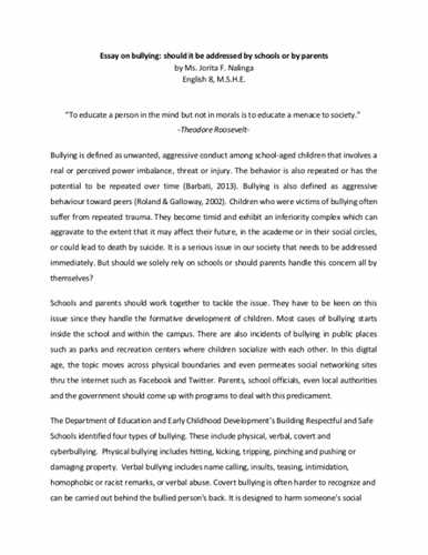 Obesity Essay Thesis Bullying Essay My Country Sri Lanka Essay English also Essays On Science And Technology Bullying Essay Write My Best College Essay On Brexit Essays Written By High School Students