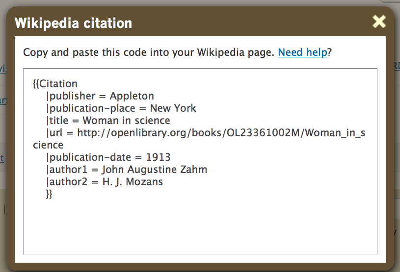 How to write bibliography card for website