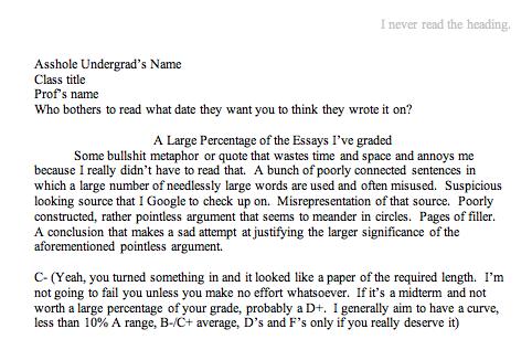 College park admission essay