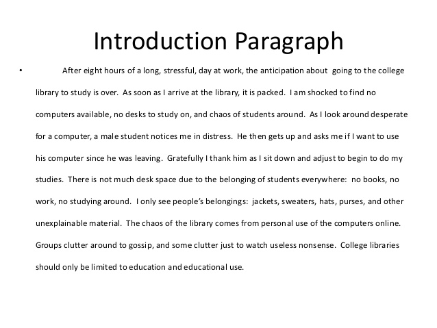 Introductions for essays