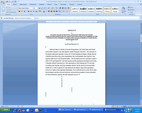 Dissertation writing nyc courses