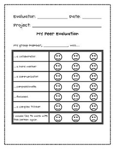 Group project peer evaluation form. Cheap reflective essay