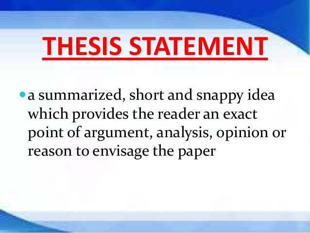 Help me write my thesis statement