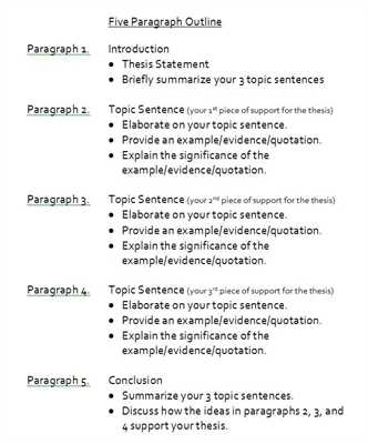 one paragraph outline