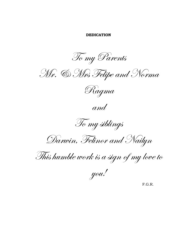 dedication quotes for parents in thesis To the memory of my parents  dedication in adventure, books, classics  friends, parents master's thesis by john p hays.