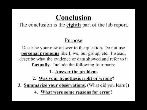 Writing lab reports and scientific papers